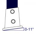 152 - Brida base con pendiente (0° - 11°)