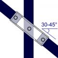 130 - Cruce ajustable (30° - 45°)